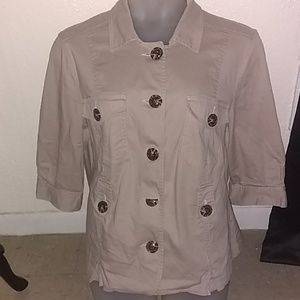 Cato Beige Jacket With Buttons size 18/20W